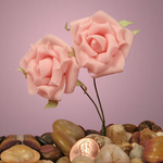 "Pink Classic Foam Roses 1-5/8"""