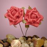 """Red Classic Foam Roses 1-5/8"""""""