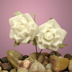 """Ivory Classic Foam Roses 1-5/8"""""""