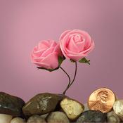 """Pink Foam 1"""" Roses"""