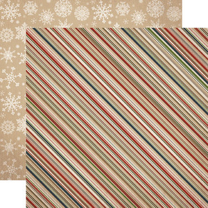 Cozy Stripe Paper - Warm and Cozy - Carta Bella