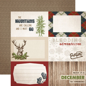 Journaling Cards 4 x 6 Paper - Warm and Cozy - Carta Bella