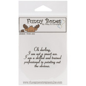 Oh Darling - Riley & Company Funny Bones Cling Mounted Stamp