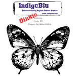 "IndigoBlu Cling Mounted Stamp 4""X4""-Flutterby - Dinkie"