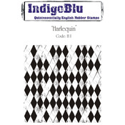 Harlequin - IndigoBlu Cling Mounted Stamp