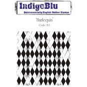 Harlequin - IndigoBlu Cling Mounted Stamp