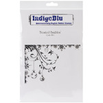 Frosted Baubles - IndigoBlu Cling Mounted Stamp