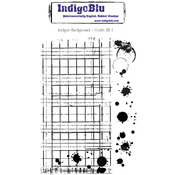Ledger Background - IndigoBlu Cling Mounted Stamp