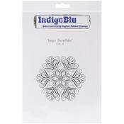 Large Snowflake - IndigoBlu Cling Mounted Stamp