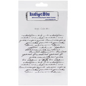 Script Background - IndigoBlu Cling Mounted Stamp