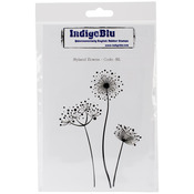 Stylized Flowers - IndigoBlu Cling Mounted Stamp