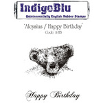 Aloysius/Happy Birthday - IndigoBlu Cling Mounted Stamp