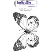 Big Butterfly - IndigoBlu Cling Mounted Stamp