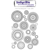 Circle Dot Background - IndigoBlu Cling Mounted Stamp