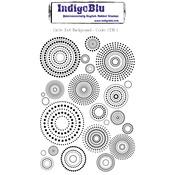 Circle Dot Background - IndigoBlu Cling Mounted Stamp