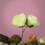 """Ivory 1.25"""" Foam Roses"""