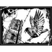 The Crow - Crafty Individuals Unmounted Rubber Stamp