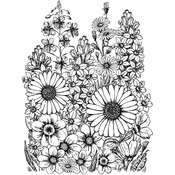 A Garden Of Flowers - Crafty Individuals Unmounted Rubber Stamp