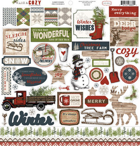 Warm & Cozy Sticker Sheet - Carta Bella