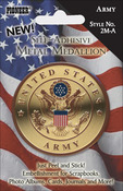 Army - Military Self-Adhesive Metal Medallion 2""