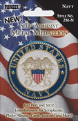 Navy - Military Self-Adhesive Metal Medallion 2""