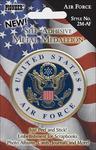 "Air Force - Military Self-Adhesive Metal Medallion 2"""