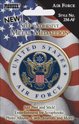 Air Force - Military Self-Adhesive Metal Medallion 2""