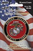 "Marine Corps - Military Self-Adhesive Metal Medallion 2"""