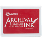 Vermillion - Archival Jumbo Ink Pad #3