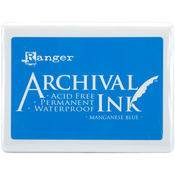 Manganese Blue - Archival Jumbo Ink Pad #3