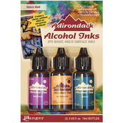Adirondack Earthtones Alcohol Ink .5oz 3/Pkg - Nature Walk - Wild Plum/Buttrscot