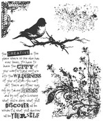 """Urban Tapestry - Tim Holtz Cling Rubber Stamp Set 7""""X8.5"""""""