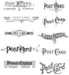 "Postcards - Tim Holtz Cling Rubber Stamp Set 7""X8.5"""