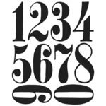 "Numeric - Tim Holtz Cling Rubber Stamp Set 7""X8.5"""