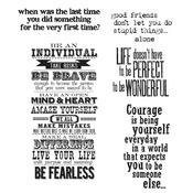 "Way With Words - Tim Holtz Cling Rubber Stamp Set 7""X8.5"""