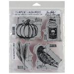 Halloween Blueprints #2 - Tim Holtz Cling Rubber Stamp Set