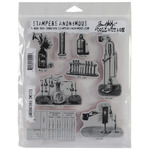 "Laboratory - Tim Holtz Cling Rubber Stamp Set 7""X8.5"""