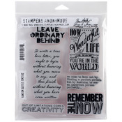 """Random Quotes - Tim Holtz Cling Rubber Stamp Set 7""""X8.5"""""""