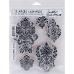 Distress Damask - Tim Holtz Cling Rubber Stamp Set