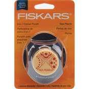Sea Pearls 3-In-1 Corner Punch - Fiskars