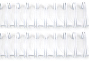 "White - Cinch Wires 1"" 2/Pkg"