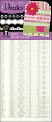 White Lacy Borders - Dazzles Stickers
