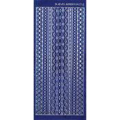 Blue Jewel Borders - Dazzles Stickers