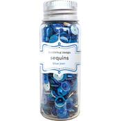 Blue Jean Assorted Sequins - Kraft In Color - Doodlebug