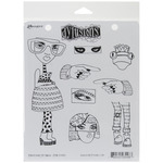 Pondering Petunia - Dylusions Cling Stamp Collections