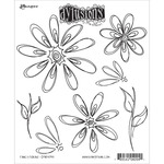 Fancy Florals - Dyan Reaveley's Dylusions Cling Stamp Collections