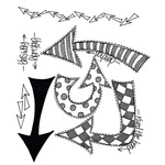 """Which Way Up - Dyan Reaveley's Dylusions Cling Stamp Collections 8.5""""X7"""""""