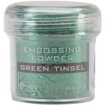 Green Tinsel - Embossing Powder 1oz Jar
