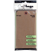 Inkssentials Brown Kraft Surfaces 20/Pkg - Tag #8