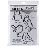 Scribbly Birds - Dina Wakley Media Cling Stamps